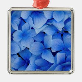 青いアジサイの花 メタルオーナメント