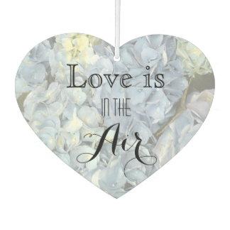 青いアジサイ愛は空気結婚式の引き出物にあります カーエアーフレッシュナー