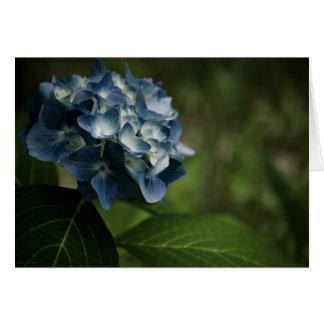 青いアジサイ8519のカード ノートカード