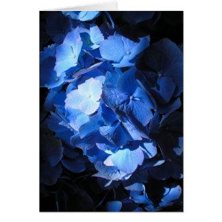 青いアジサイ-メッセージカード カード