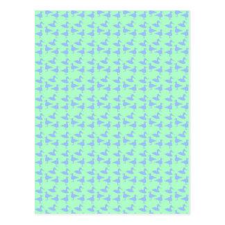 青いアヒル ポストカード