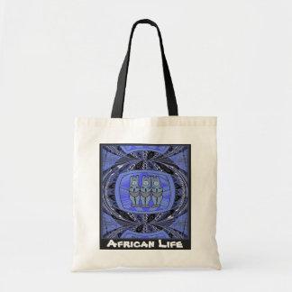 青いアフリカの生命_3の女性種族の彫像 トートバッグ