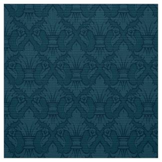青いアヤメパターン生地 ファブリック