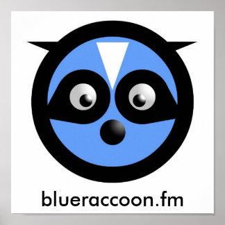 青いアライグマポスター ポスター