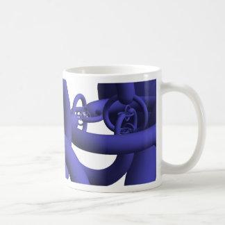 青いアレキサンダーの角状球のマグ コーヒーマグカップ