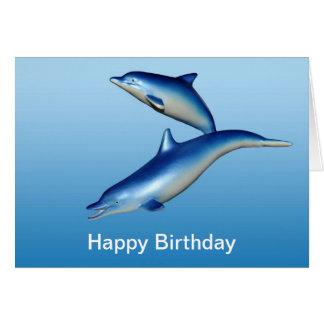 青いイルカの誕生日 カード