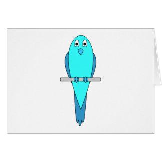青いインコの鳥 カード