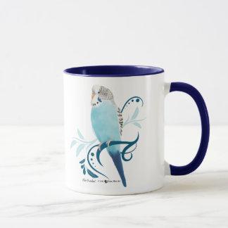 青いインコ マグカップ