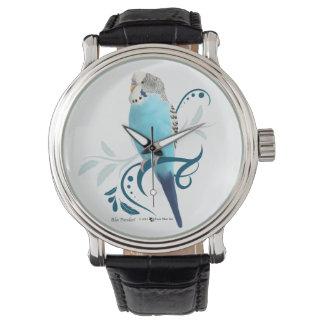 青いインコ 腕時計