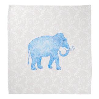 青いインドパターン象 バンダナ