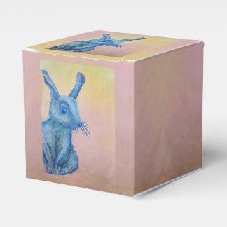 青いウサギのギフト用の箱 フェイバーボックス