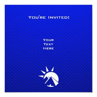 青いエジプトのピラミッド カード