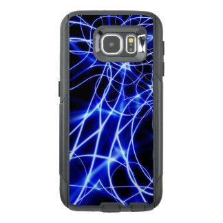 青いエネルギーライン、ファンタジーの青のフラッシュ オッターボックスSamsung GALAXY S6ケース