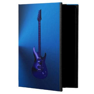 青いエレキギターのモノグラムのiPadの空気箱 Powis iPad Air 2 ケース