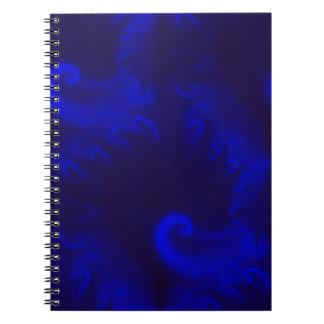 青いオウムガイのフラクタル ノートブック