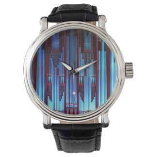 青いオルガン管 腕時計