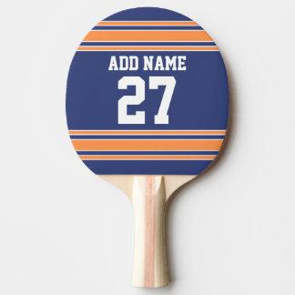 青いオレンジはあなたの名前及び数を用いるジャージーを遊ばします 卓球ラケット