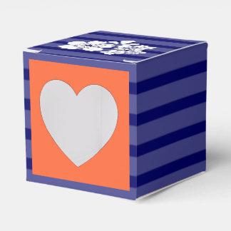 青いオレンジ結婚式の桜 フェイバーボックス