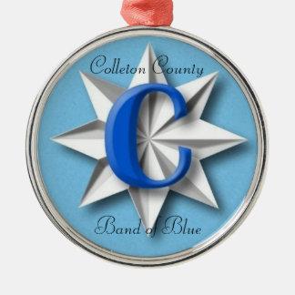 青いオーナメントのColleton郡バンド メタルオーナメント