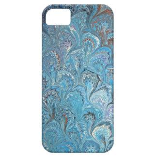 青いカエルの足水大理石模様をつけること iPhone SE/5/5s ケース