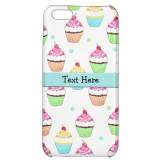 青いカップケーキのiPhone 5の箱 iPhone5Cケース