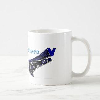 青いカヌーの作家のマグ コーヒーマグカップ