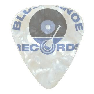 青いカヌーはギターピックを記録します パールセルロイド ギターピック