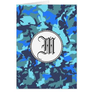 青いカムフラージュ カード