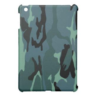 青いカムフラージュ iPad MINIカバー