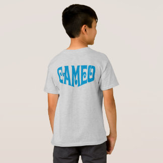 青いカメオのロゴの子供のTシャツ Tシャツ