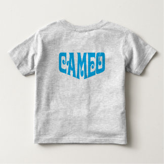 青いカメオのロゴの幼児のTシャツ トドラーTシャツ