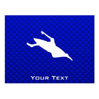 青いカヤックを漕ぐこと ポストカード