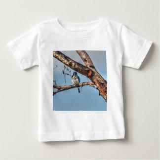 青いカワセミクイーンズランドオーストラリア芸術の効果 ベビーTシャツ