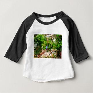 青いカワセミクイーンズランドオーストラリア ベビーTシャツ