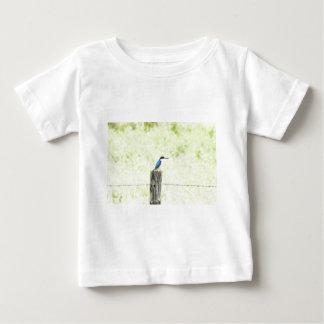 青いカワセミ田園クイーンズランドオーストラリア ベビーTシャツ