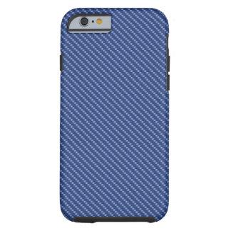青いカーボン繊維の基盤 iPhone 6 タフケース