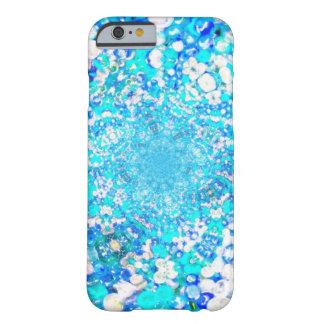 青いガラス水晶の泡宝石の効果 BARELY THERE iPhone 6 ケース