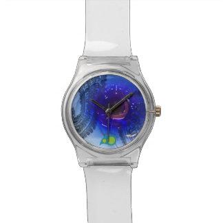 青いガラス 腕時計