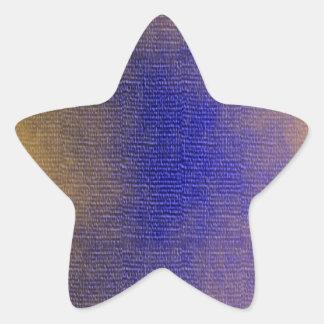 青いキャンバス 星シール