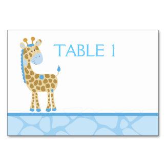 青いキリンのカスタムなテーブルカード カード