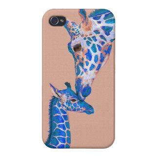 青いキリンのiphone 4ケース iPhone 4/4Sケース