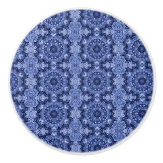 青いキルト セラミックノブ