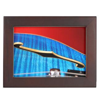 青いギター ジュエリーボックス