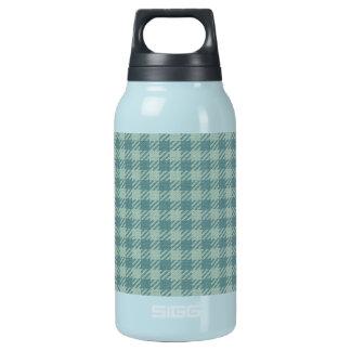 青いギンガムのプリント 断熱ウォーターボトル