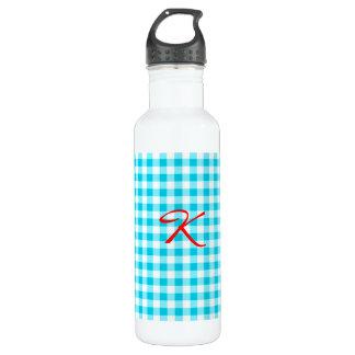 青いギンガム ウォーターボトル