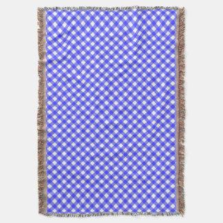 青いギンガム スローブランケット