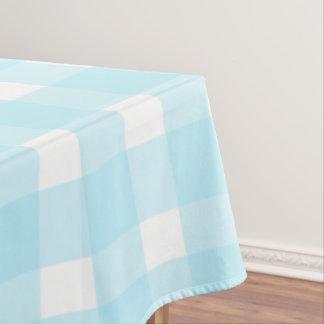 青いギンガム テーブルクロス