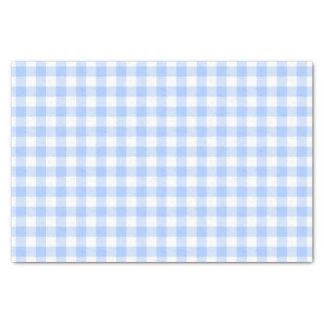 青いギンガム 薄葉紙