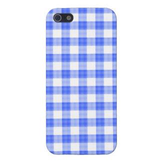 青いギンガム iPhone SE/5/5sケース