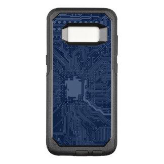 青いギークのマザーボード回路パターン オッターボックスコミューターSamsung GALAXY S8 ケース